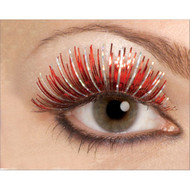 Small Red and Silver Hologram Eyelashes