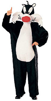 Sylvester Mascot Costume, Adult Looney Tunes