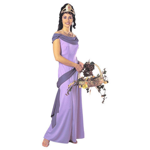 Grecian Goddess Costume Adult Greek Purple Dress