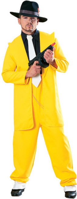 Yellow Zoot Suit Costume 1920s Gangster Costume