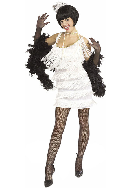 Broadway Babe Adult 20s White Costume