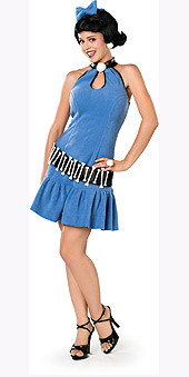 Betty Rubble Costume, Adult Blue - Adult Small