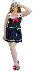 Plus Size Sailor girls costumes