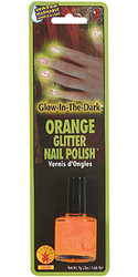 Orange Glitter Glow-in-the-Dark Nail Polish