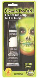 Glow-in-the-Dark Green Cream Halloween Make Up