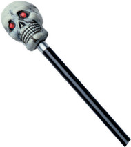 Cane With Jewel Eyes 48 inch Tall Bone-Color