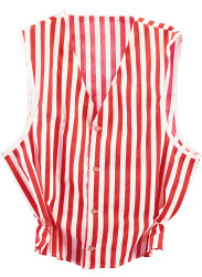Red & White Striped Vest Adult 20s Costume