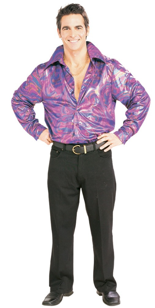 Lame Disco Shirt Adult 70 S Clothing For Men