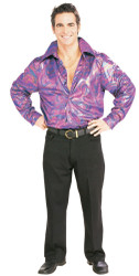 Lame Disco Shirt Adult 70's Clothing for Men