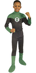 Green Lantern Costume, Boys Economy Superhero - Halloween Costume