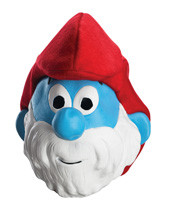 The Smurfs Papa Smurf Mask Adult Mask