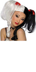 Fear Fairy Black & White Hair Wig
