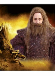 Clash of the Titans Hades Hair Wig & Beard Set - New for 2010 Halloween