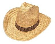 High Crown Western Straw Cowboy Hat