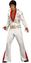 Elvis Costume Grand Heritage Adult White Jumpsuit