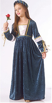 Juliet Costume Child Deluxe Historical Dress