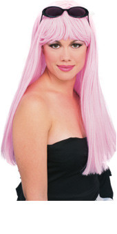 Light Pink Long Hair Wig