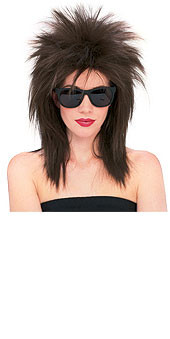 Dark Brown Superstar Spikey Hair Wig