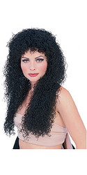 Long Black Curly Hair Wig