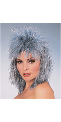 Metallic Tinsel Hair Wig