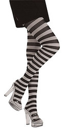 Black & White Stripes Tights