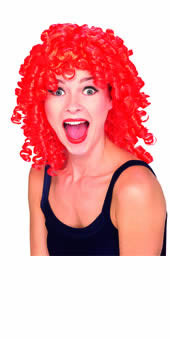 Red Curly Top Hair Wig