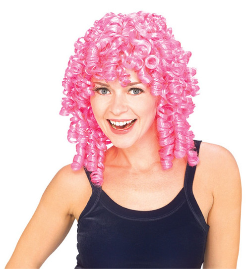 Pink Curly Top Hair Wig