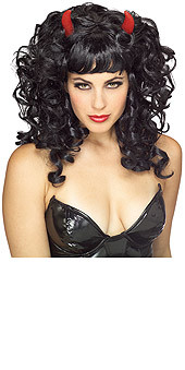 Devil Hair Wig Black