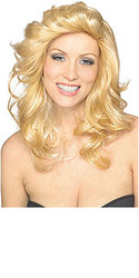 70's Blonde Wavy Long Hair Wig - Halloween Hair Wig