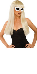 Lady Gaga Poker Face Straight Hair Blonde Hair Wig With Bangs