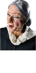 Old Granny Face Halloween Latex Prosthetic