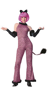 Purr-fect Pink Costume Adult Kitty Halloween Costume