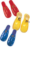 Child Plastic clown costumes Shoe covers