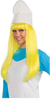 The Smurfs Smurfette Yellow Hair Wig Adult - New for 2010 Halloween