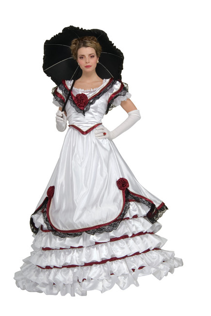 sc 1 st  All Seasons for All Reasons & Southern Belle Costume Adult Colonial Dress