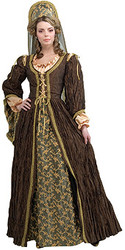 Anne Boleyn Costume, Adult Authentic Dress
