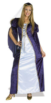 Juliet Costume Adult Renaissance Blue Velvet Dress