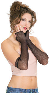 Black Fishnet Mitts