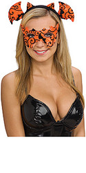Halloween Headband Set- Orange Mask