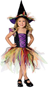 Cute Witch Sequin Accents Dress and Witch Hat