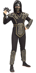 Gold Ninja Costumes, Boys Dragon Warrior