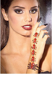 Red Spider Bracelet with Attached Ring