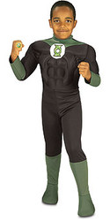 Green Lantern Costume, Kids Muscle Chest Superhero