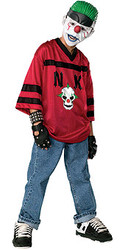 Teen horror Happy clown for Boys Scary Halloween Costume