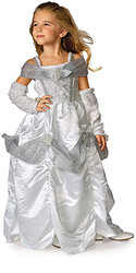 Ballroom Fancy Silver Princess Dress