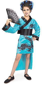 Teal Dragon Lady Dress