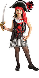 Ms. Skull Bones Pirate Girls Costume