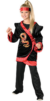 Red Dragon Ninja Costumes