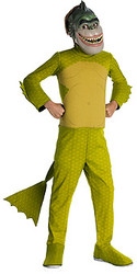 Monsters vs Aliens Missing Link Costume, Boys Deluxe - Movie Halloween Costume 2010