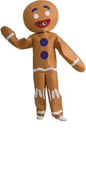 Gingerbread Man Costume, Kids Halloween Shrek Costume